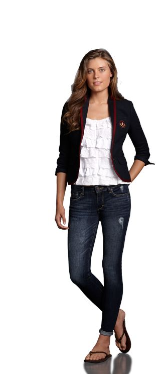 Cute and classic school outfit by Abercrombie.