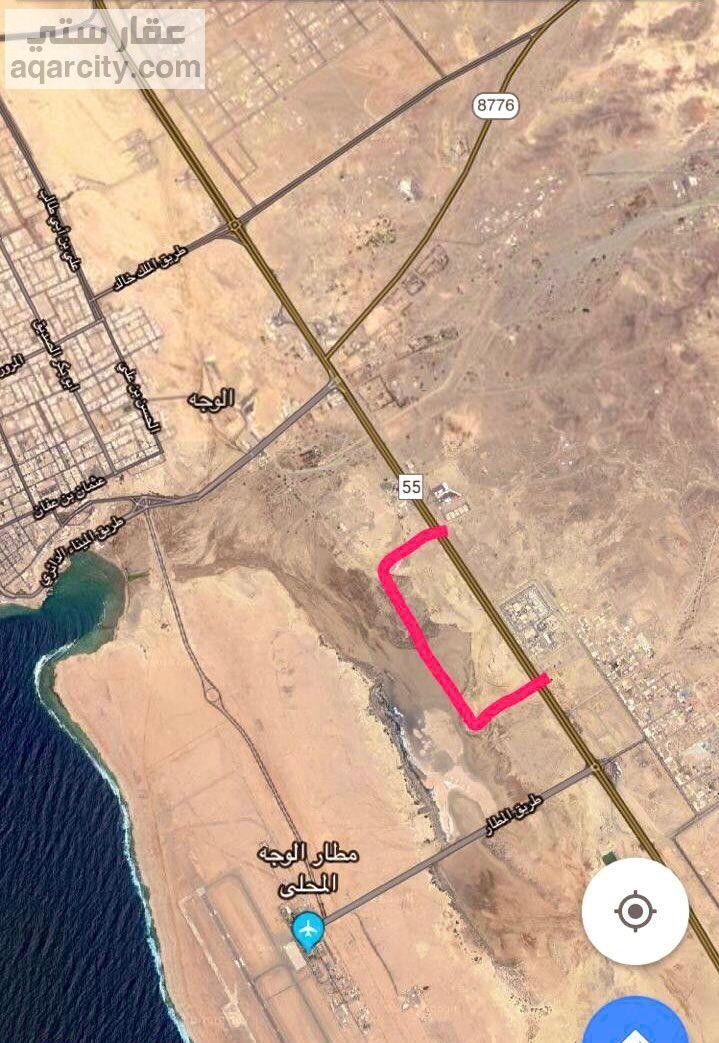ارض للبيع في الوجه مساحتها 390 الف قريبه من مطار الوجه Arrow Necklace Map Necklace