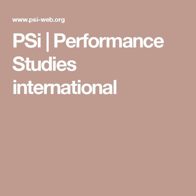 PSi | Performance Studies international