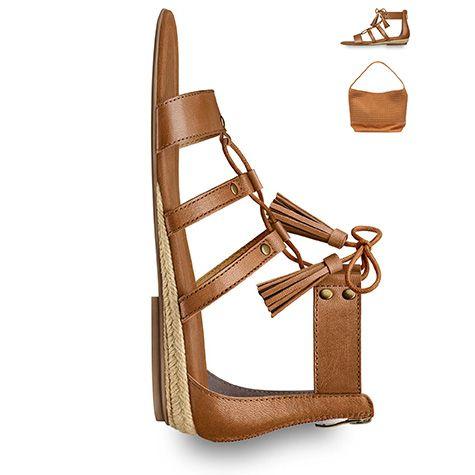 #brown #shoes, #sandals, #lacing, #flats #tamaris