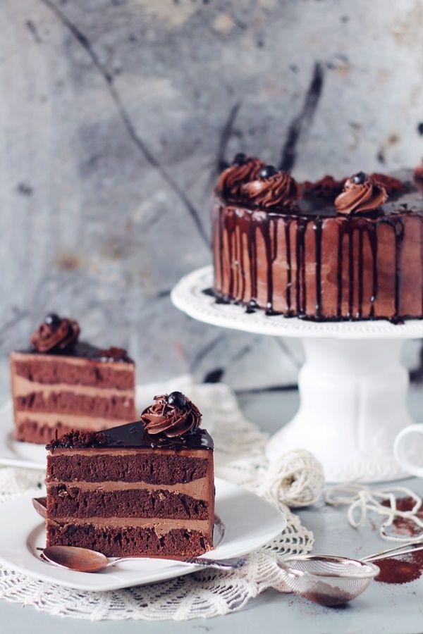 Torta de chocolate Amandina | Tort Amandina | Pasiune pentru bucatarie