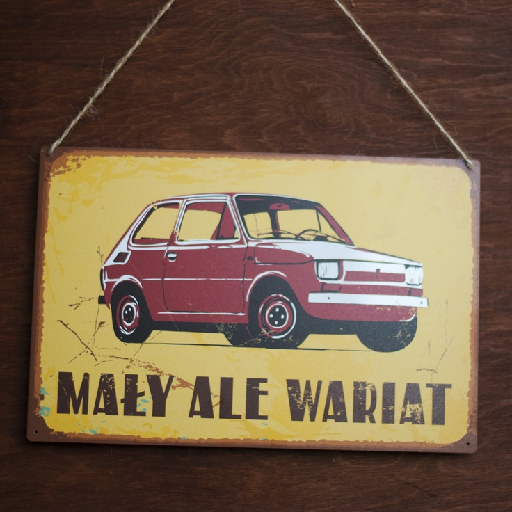 Tablica Mały ale wariat, dostępna na: http://www.spodlady.com/prod_18111_Tablica_Maly_ale_wariat.html