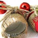 Decorazioni di Natale last minute: cartone e nastro decorato o washi tape