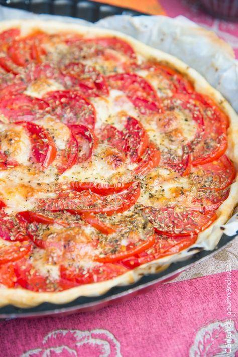 Tarte fine tomates mozza