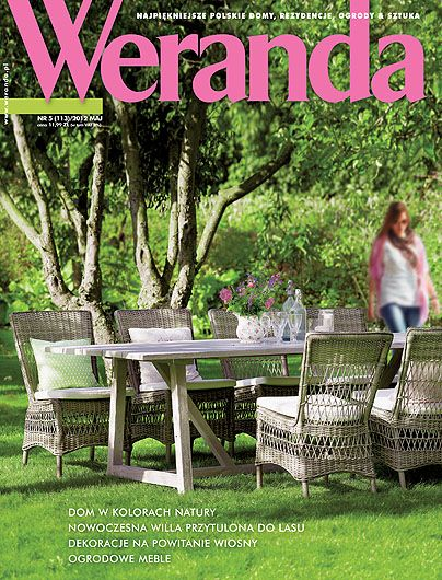 Okładka magazynu Weranda 5/2012 www.weranda.pl
