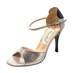 Exclusive Comme il Faut Tango Shoes - Plata con Corazon