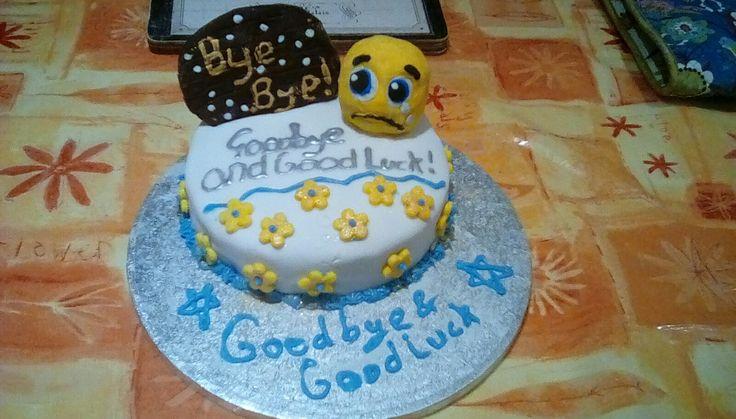Goodbye and good luck cake
