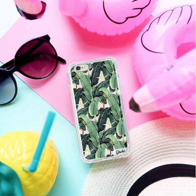 Gadget Cases – Tropical leaves Armor case iPhone 5,6,6+,7+ – a unique product by Solomiia-Ivanytsia on DaWanda