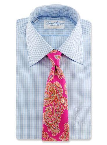 Cool tie - Ben Silver. Magenta Large Paisley Printed Tie