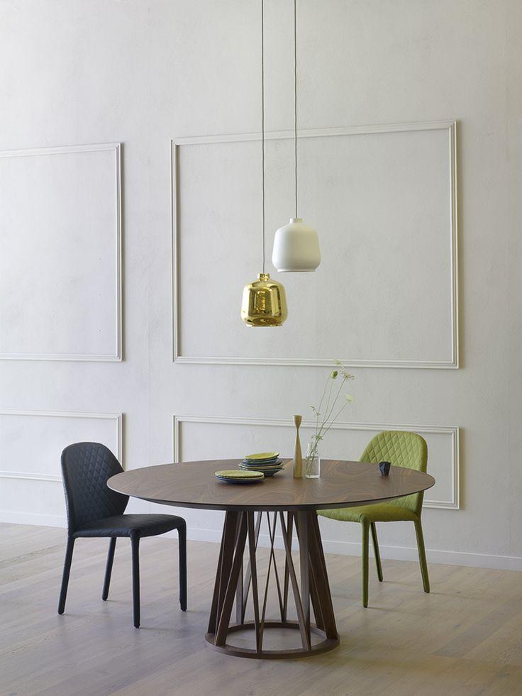 New Acco table walnut finiture, designed by Florian Schmid. #homedecor #interiordesign #miniforms