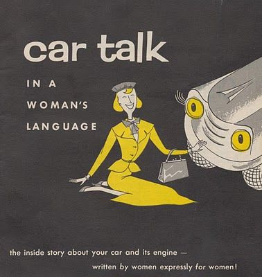 Car Talk in a Woman's Language A Pamphlet by Champion Spark Plug Company of Toledo, Ohio 1956