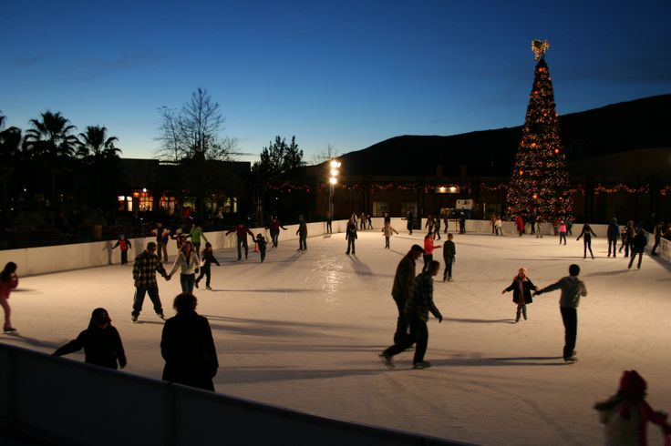 Viejas Outlet Center in San Diego's East County offers one the largest outdoor skating rinks in the United States during the holiday season.