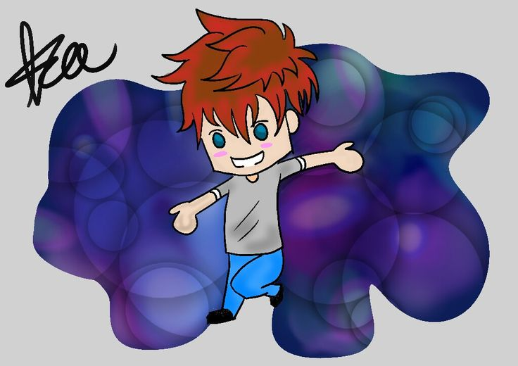 Chibi Keegan is playing around~ Created by Keegan #digital #artwork #chibi #cute #boy