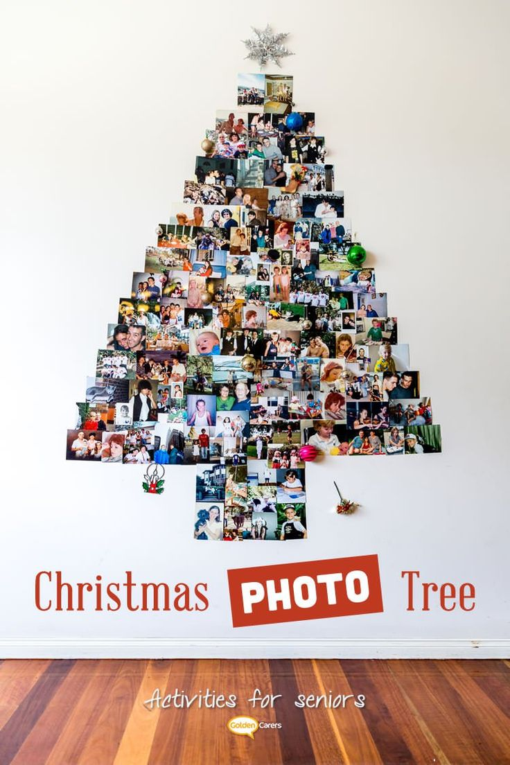 These spectacular photo Christmas trees are so simple to make and will attract clients, visitors and staff and generate lots of social interaction. This is a wonderful activity for seniors in nursing homes.