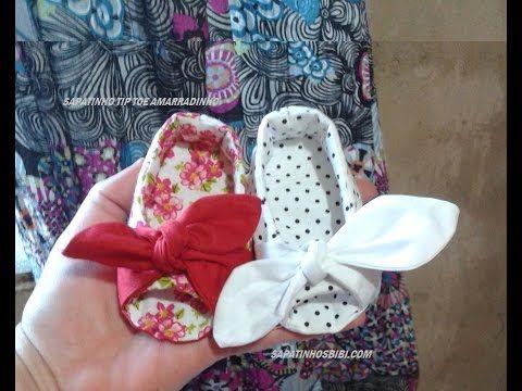 Sapatinho de bebê: PEEP TOE - dedinhos de fora com molde grátis (DIY Tutorial) - YouTube