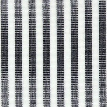 Textilvaxduk svart randig garnfärgad till köket
