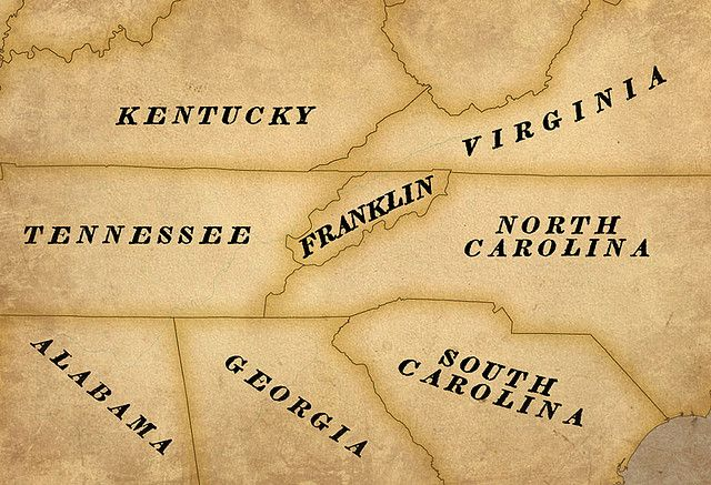 Historical Map of the United States including the State of Franklin