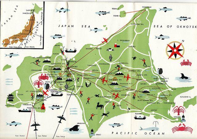 Map Of Hokkaido Flickr Photo Sharing Maps