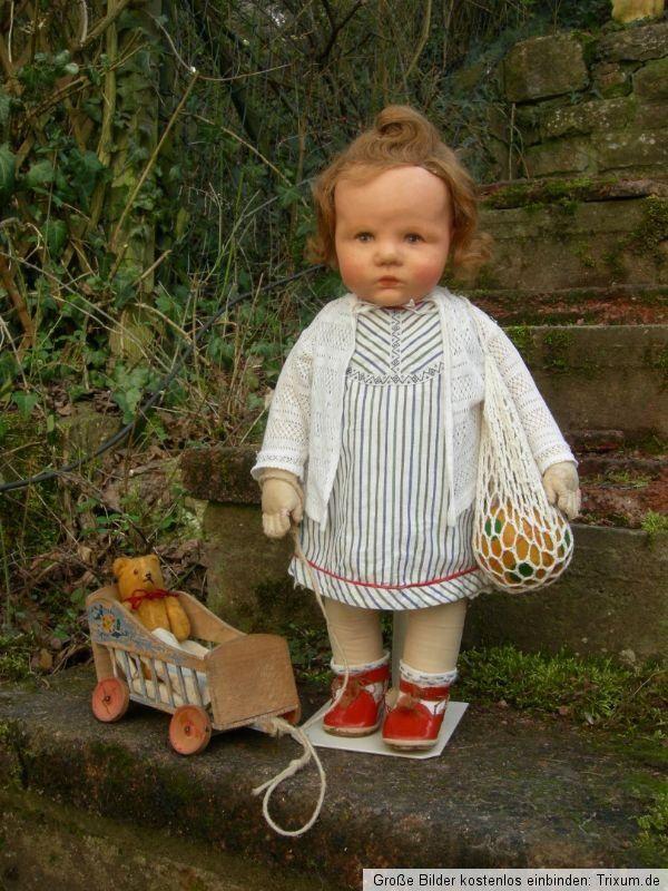 Antike Käthe Kathe Kruse Puppe Du Mein, doll, Stoffkopf, B-Körper, ca 50cm | eBay                                                                                                                                                                                 Mehr