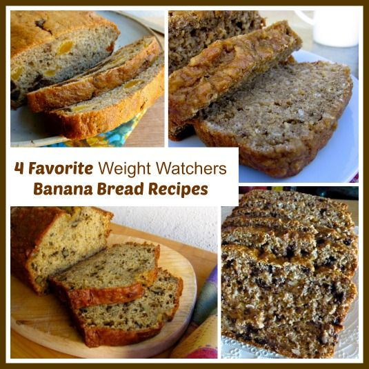Favorite Weight Watchers Banana Bread Recipes | Easy Healthy Weight Watchers Recipes #WeightWatchers Round up of light and delicious banana bread recipes all with calories and Points Plus valuces