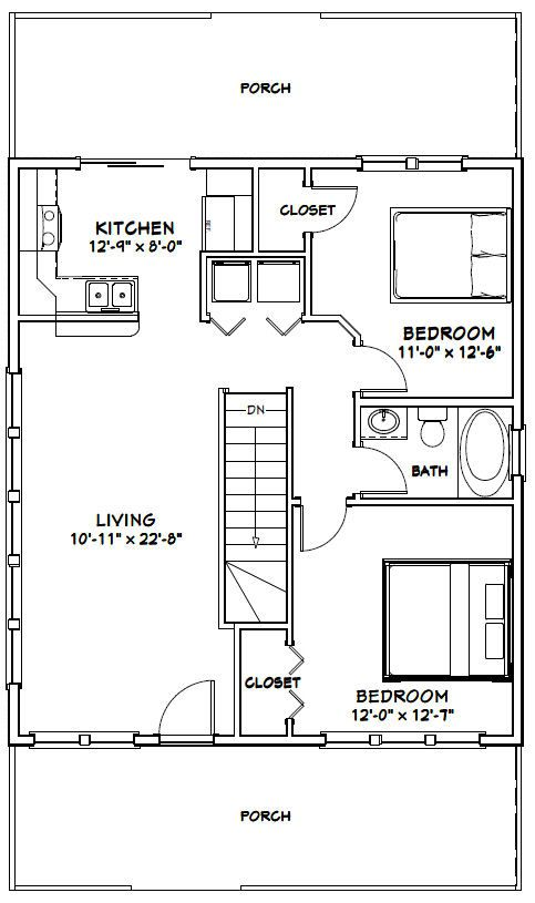 114 best tiny housrs images on pinterest small houses for 28x32 floor plan