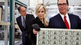 Treasury boss Mnuchin, wife raise eyebrows with big money photo op | Fox News