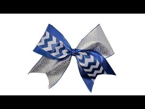 ▶ How To Make A Tick Tock Cheer Bow - YouTube