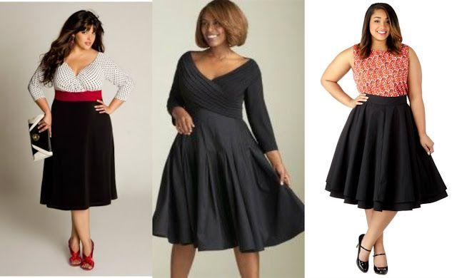 Odchudzanie Motywacja Inspiracja: Spódnica / sukienka dla dziewczyny XXL. Typy sylwetek