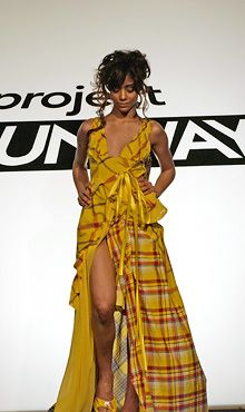 Santino rice project runway yellow dress