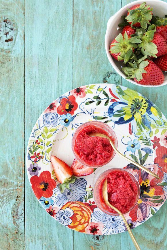 Strawberry and Jasmine Tea Granita | Bakers Royale