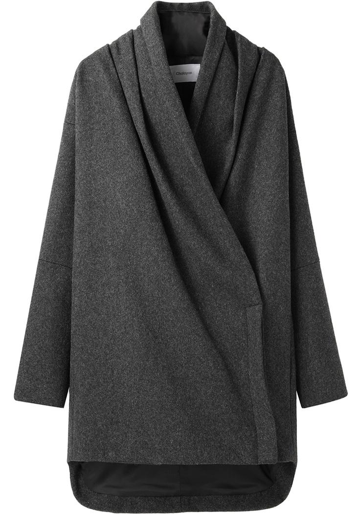 Chalayan Grey Line / Scarf Neck Coat