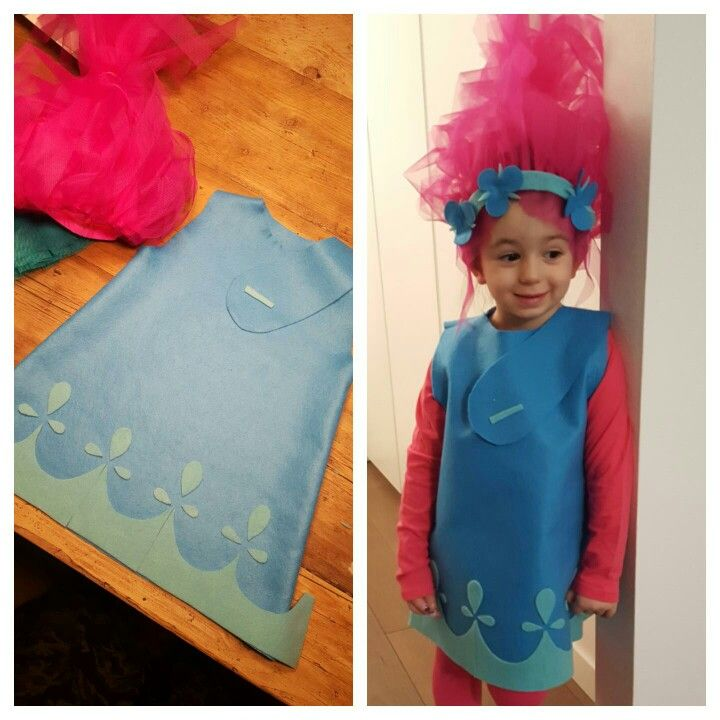 Princess Poppy Trolls diy costumes