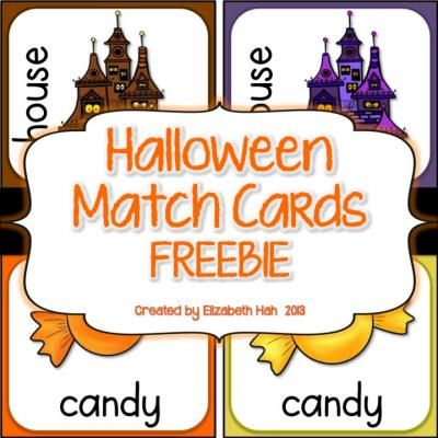FREE Halloween Match Cards from Elizabeth Hah on TeachersNotebook.com -  (8 pages)  - For Halloween-themed memory, matching, sorting alphabetically and writing, these cards can be used a number of ways. Literacy suggestions are included. To use, simply print, cut and laminate.