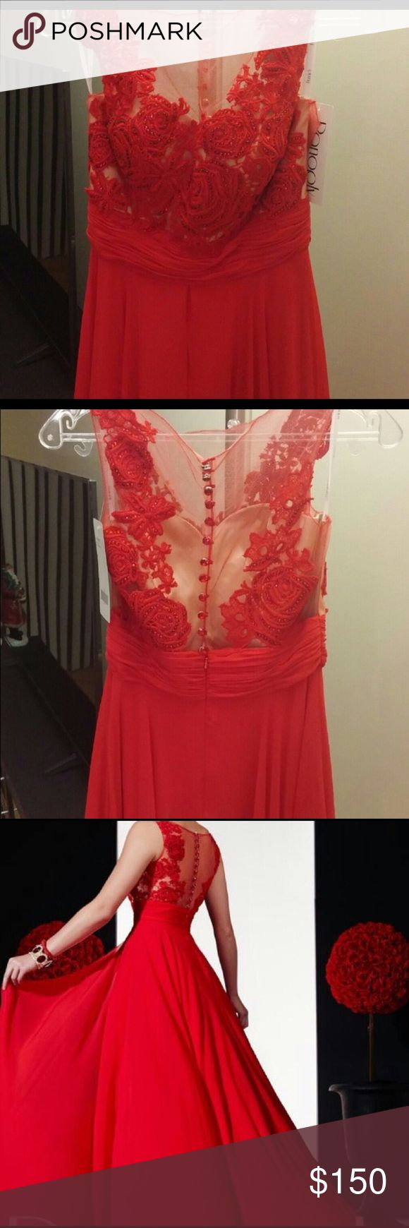 New panoply red lace gown! Brand new prom dress panoply Dresses Prom
