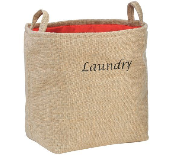 Buy Premier Housewares Laundry Bag - Natural at Argos.co.uk, visit Argos.co.uk to shop online for Linen baskets and laundry bins, Bathroom accessories, Home furnishings, Home and garden