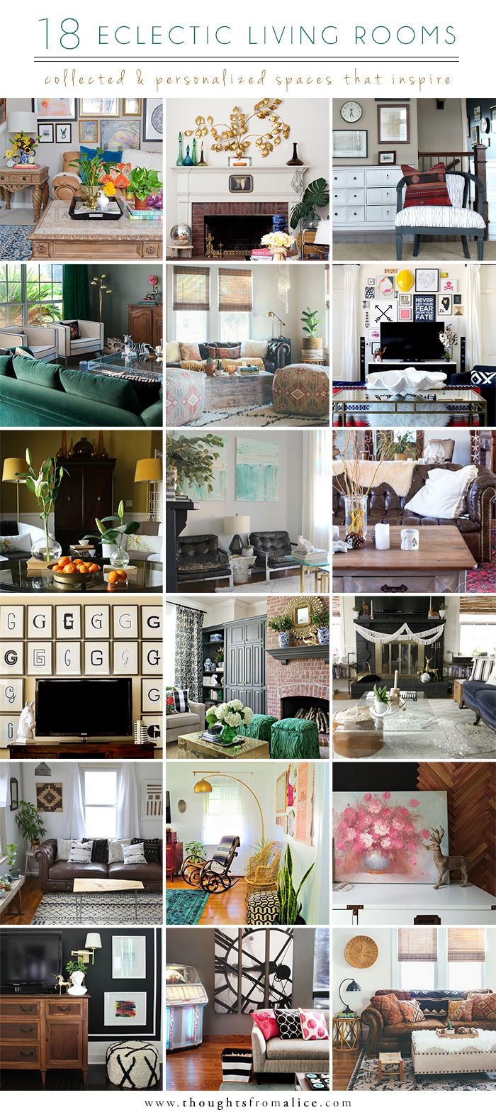 Thoughts From Alice 18 Eclectic Living Rooms Collected Spaces That Inspire