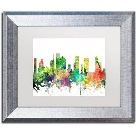 Trademark Fine Art Houston Texas Skyline Sp Canvas Art by Marlene ...
