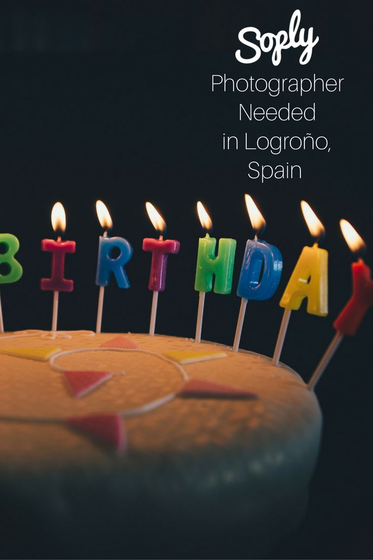 #Photographer needed for a #1st #birthday #party in #Logroño, #Spain. See the #photography job and apply by clicking the pin!