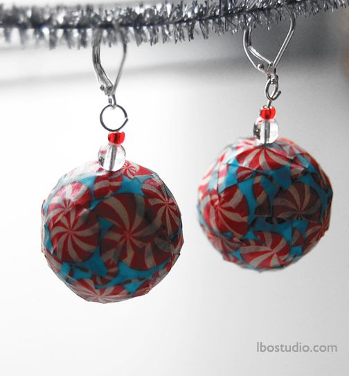 how to make paper ornaments earrings