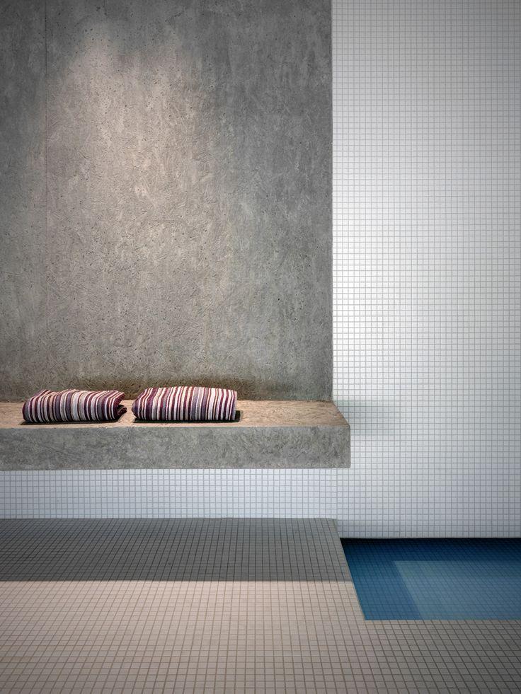 concrete + tile