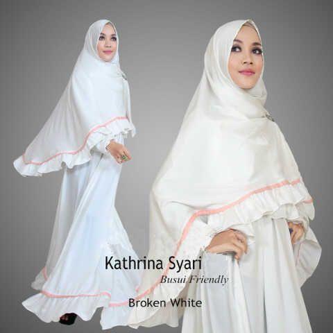 Gamis Syar'i Modern KATHRINA SYARI BW - http://warongmuslim.com/gamis-syari/gamis-syari-modern-kathrina-syari-bw/