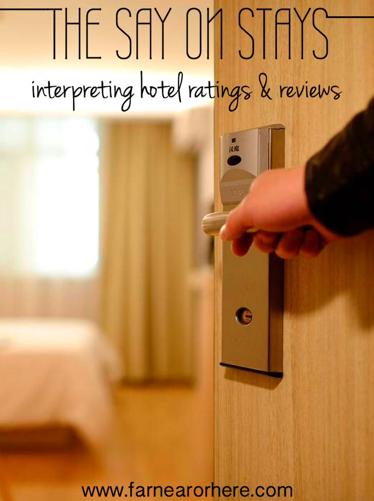 How to interpret hotel reviews and ratings...