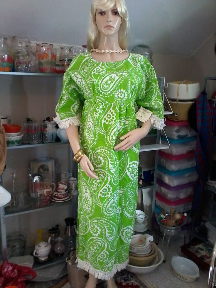 Vintage size medium Rhapsody n Robes by Kay Bros summer dress by MajorVintageShop on Etsy