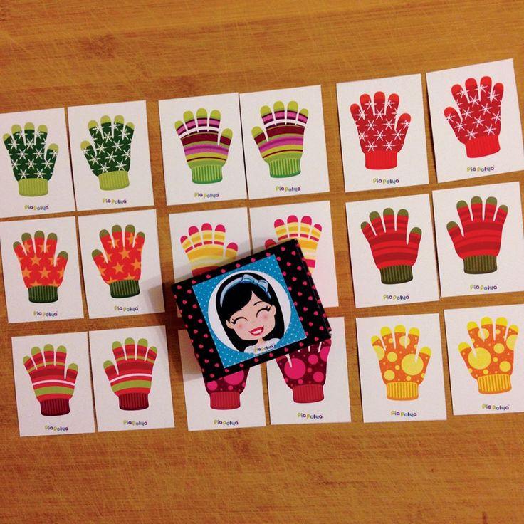 Pia Polya Eldiven Eşleştirme Kartları 12ay ve 48ay çocuklar içindir. A3