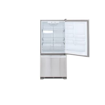 Whirlpool 30 in. W 18.7 cu. ft. Bottom Freezer Refrigerator in Monochromatic Stainless Steel-WRB329DMBM - The Home Depot
