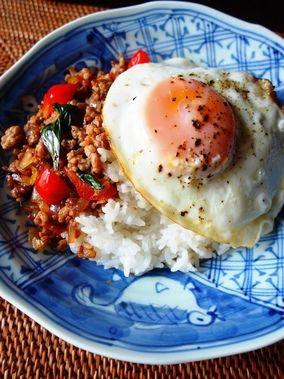 本格タイ料理☆ガパオライス|レシピブログ