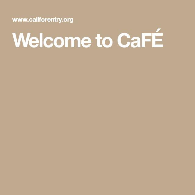 Welcome to CaFÉ