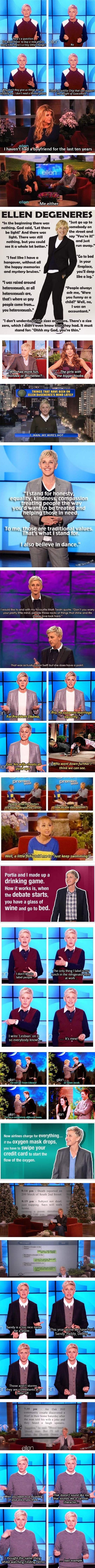 Ellen-isms. DYING lol