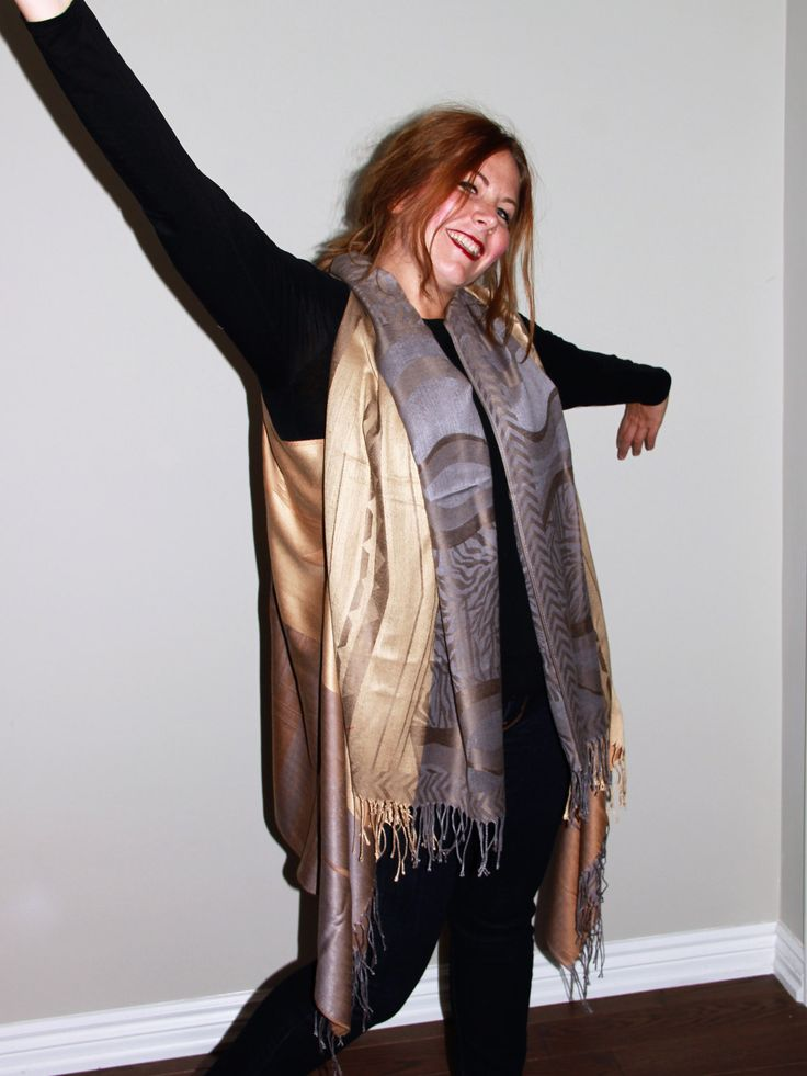 Golden Brown and Grey Cover-up by LLCozyCorner on Etsy