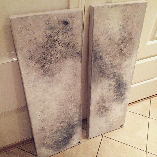 Bestillingsprosjekt nærmer seg slutten - er spent på om mottakerne er fornøyd med resultatet  Lerret på tykk treramme 2 stk 30x100cm #acryl #acrylic #paint #paintings #maleri #malerier #diy